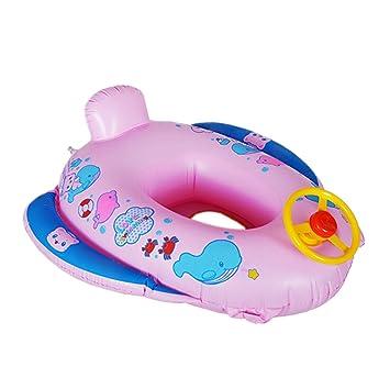 cadillaps asiento flotador para bebé 1 - 3 años en forma de coche de policía y delfín Rosa rosa Talla:65*60cm: Amazon.es: Deportes y aire libre