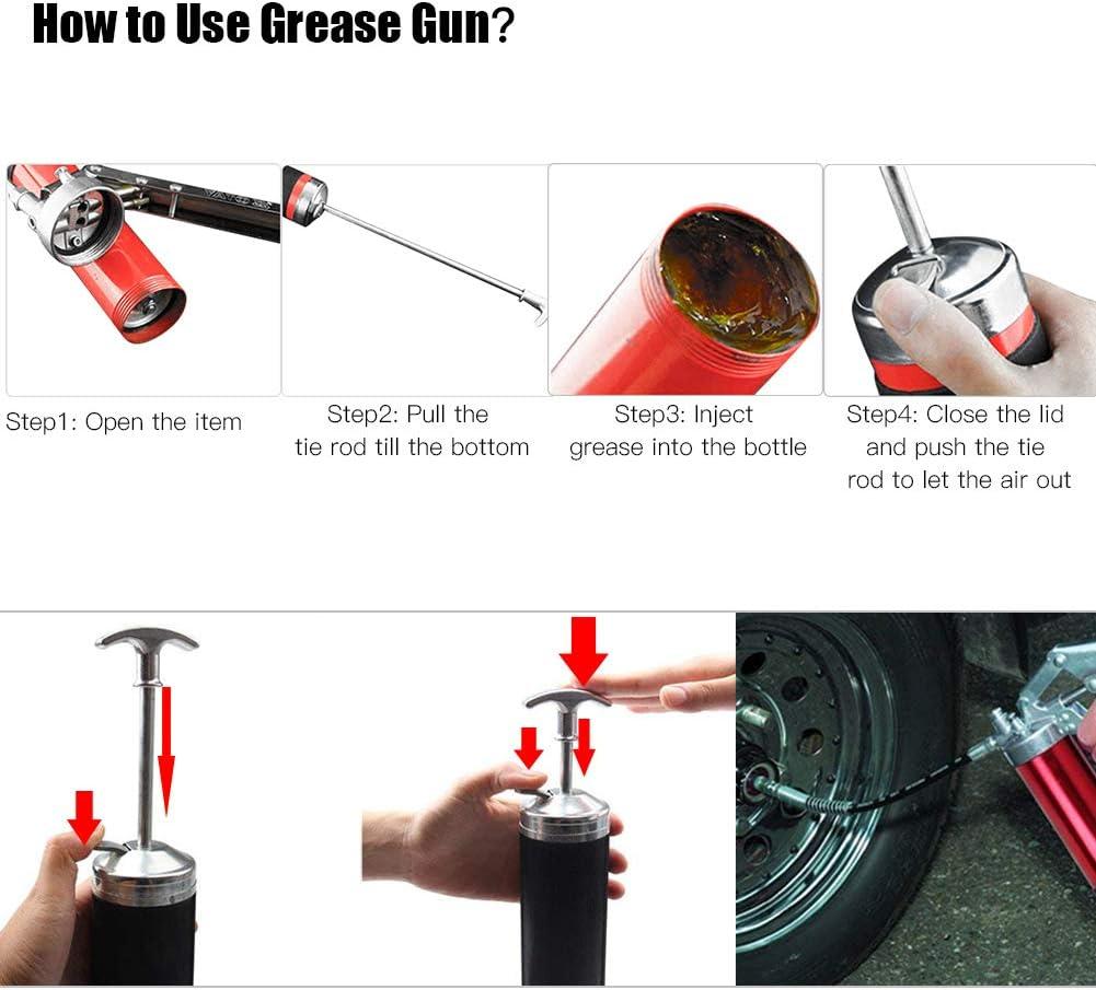 Bomba de Grasa neum/ática 500CC GOTOTOP Pistola de Grasa Manual