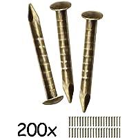 fuxxer®–200x Antiguo latón clavos de diseño, muebles,