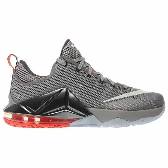 f4817b937bb ... hot lava c33cd f4678 new style amazon nike lebron xii low mens  basketball shoes 724557 014 wolf grey white dark ...