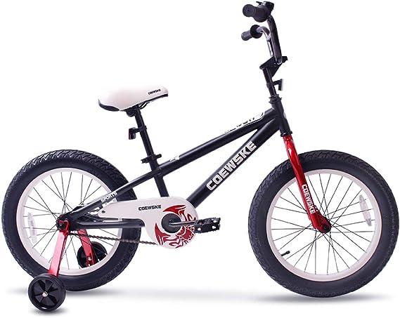 COEWSKE BMX Bicicletas para niños Deporte Bicicleta Nieve Grasa Neumático para Chica y Niño 16 – 18 Pulgadas con Rueda de Entrenamiento: Amazon.es: Deportes y aire libre