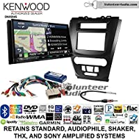 Volunteer Audio Kenwood Excelon DNX994S Double Din Radio Install Kit with GPS Navigation Apple CarPlay Android Auto Fits 2010-2012 Fusion (Black)