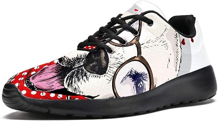 TIZORAX Zapatillas de running para mujer, con lunares rojos, bufanda, diseño de corazón, globo, de malla, transpirable, senderismo, tenis, color Multicolor, talla 40 EU: Amazon.es: Zapatos y complementos