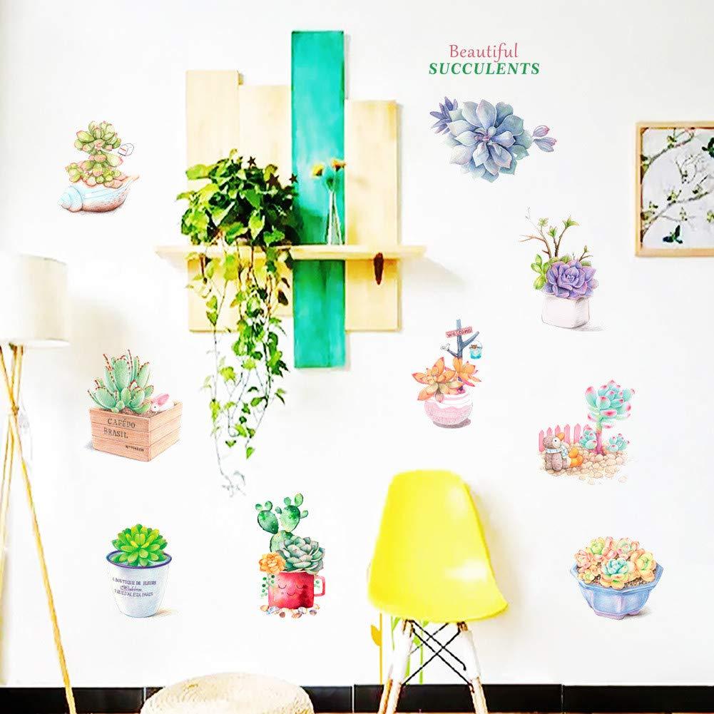 JiaMeng Pegatinas de Pared Pintura Decorativa Dormitorio TV ...