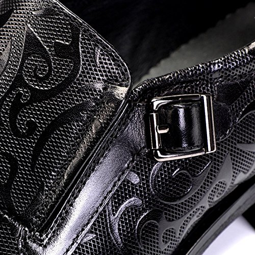 Individuales De Hombres Zapatos Negocios Usable Transpirable Inglaterra Xdljl Tallado Tendencia Absorción Choque Cuero Black xqEIwCf