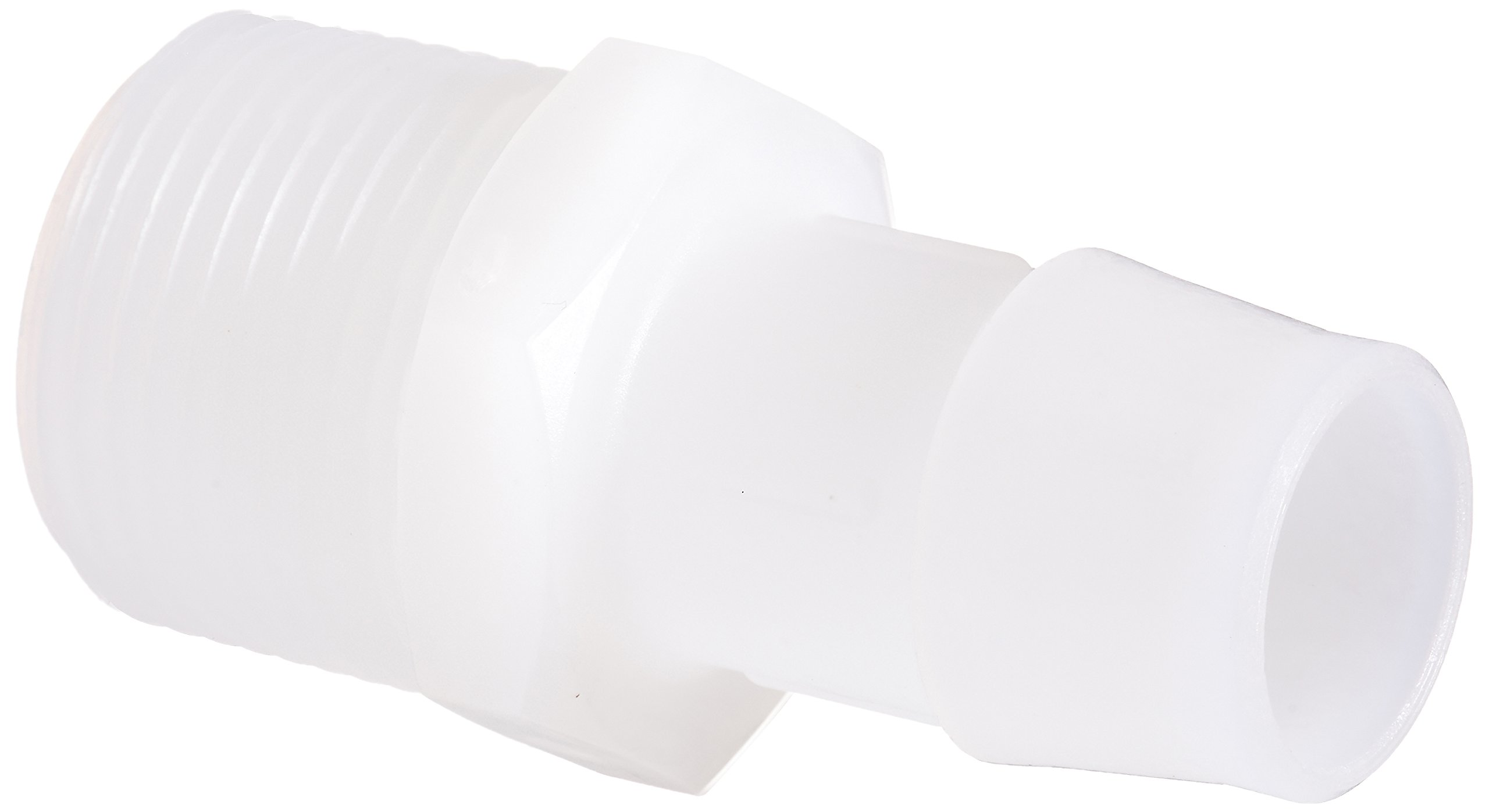 Eldon James A12-12NK Natural Kynar Adapter Fitting, 3/4-14 NPT to 3/4 Hose Barb (Pack of 10)