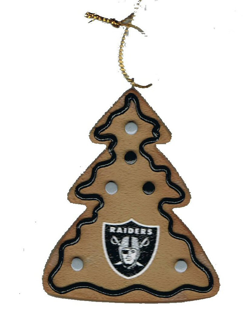 Amazon.com : Oakland Raiders Resin Tree Christmas Ornament (Holiday ...