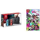 Nintendo Switch - Consola color Azul Neón/Rojo Neón + Splatoon 2