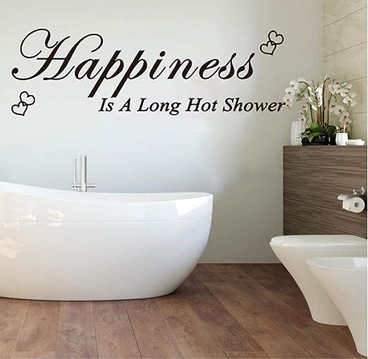Vinilos decorativos y murales La felicidad es una larga ducha de ...