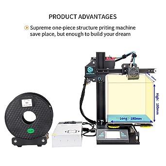 Impresora 3D, Kingroon DIY impresora de aluminio con pantalla ...