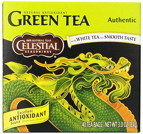 Celestial Seasonings authentique thé vert, 40 comte (Pack de 6)