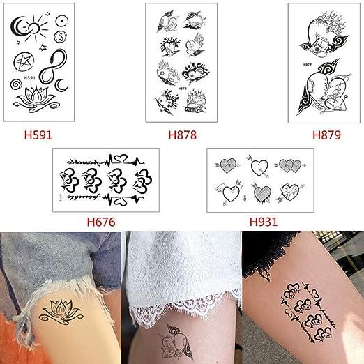 2pcs Etiqueta engomada del Tatuaje Temporal a Prueba de Agua Gato ...