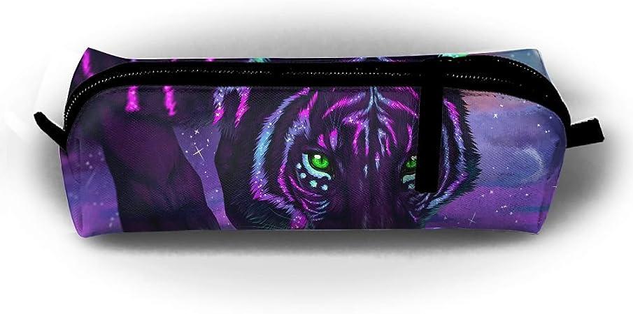 Camouflage Tiger - Estuche para lápices de estudiantes, con cremallera, pequeño neceser de maquillaje, para niños, adolescentes y otros suministros escolares: Amazon.es: Oficina y papelería