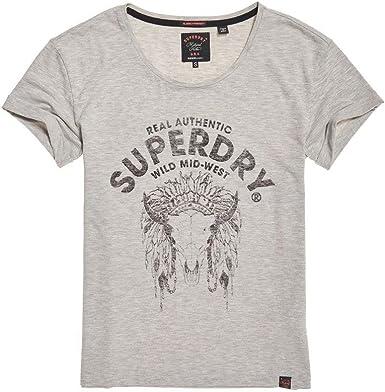 Superdry - Camiseta - para mujer gris gris 34: Amazon.es: Ropa y accesorios