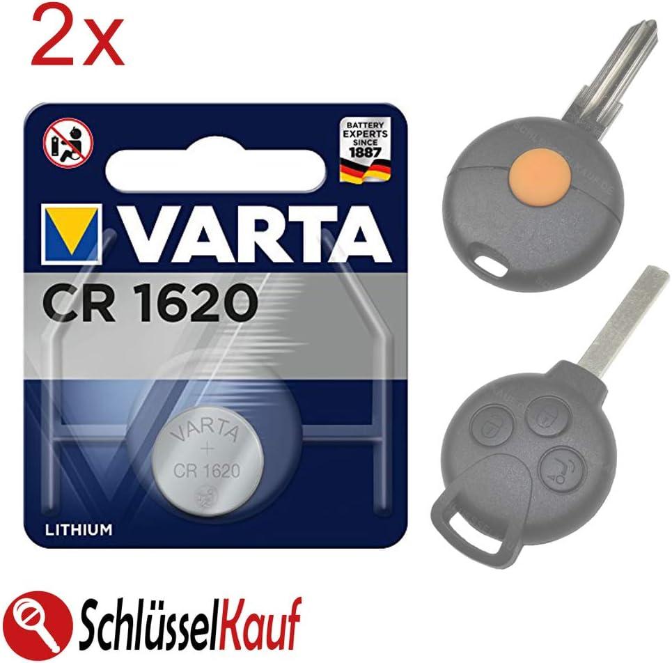 2x Autoschlüssel Batterie Kompatibel Für Smart Fortwo Elektronik