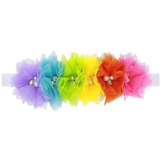 CAOLATOR Cintas De Cabeza Niños Conjuntos con Lazos Fijos Hermosas Bandas EláStica Cumpleaños Fiestas Velada Su Cinturón de la Cordón (Colour -1Pcs)