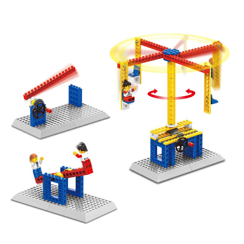 b833008597ae Amazon.com  Shooting Game Mechanical Gear Technic Building Blocks  Engineering Children s Science Educational STEM Toys
