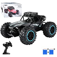 Bcamelys 1:18 Scale High Speed Car 4WD 2.4GHz Remote Control RC Truck with 2 Rechargeable Batteries for Kids and Adults