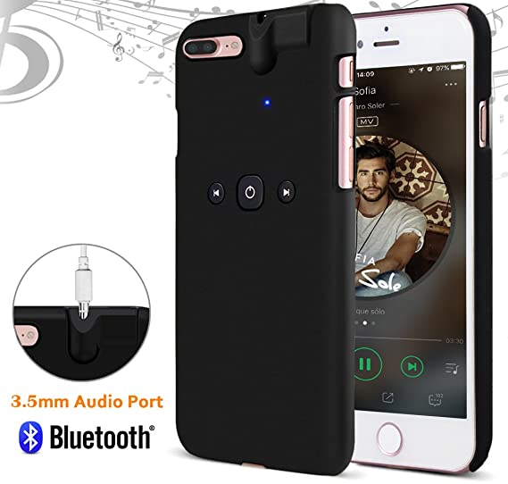 best authentic 8a246 5aa3e Amazon.com: iPhone 7 Plus Case Built-in 3.5mm Headphone Jack Adapter ...