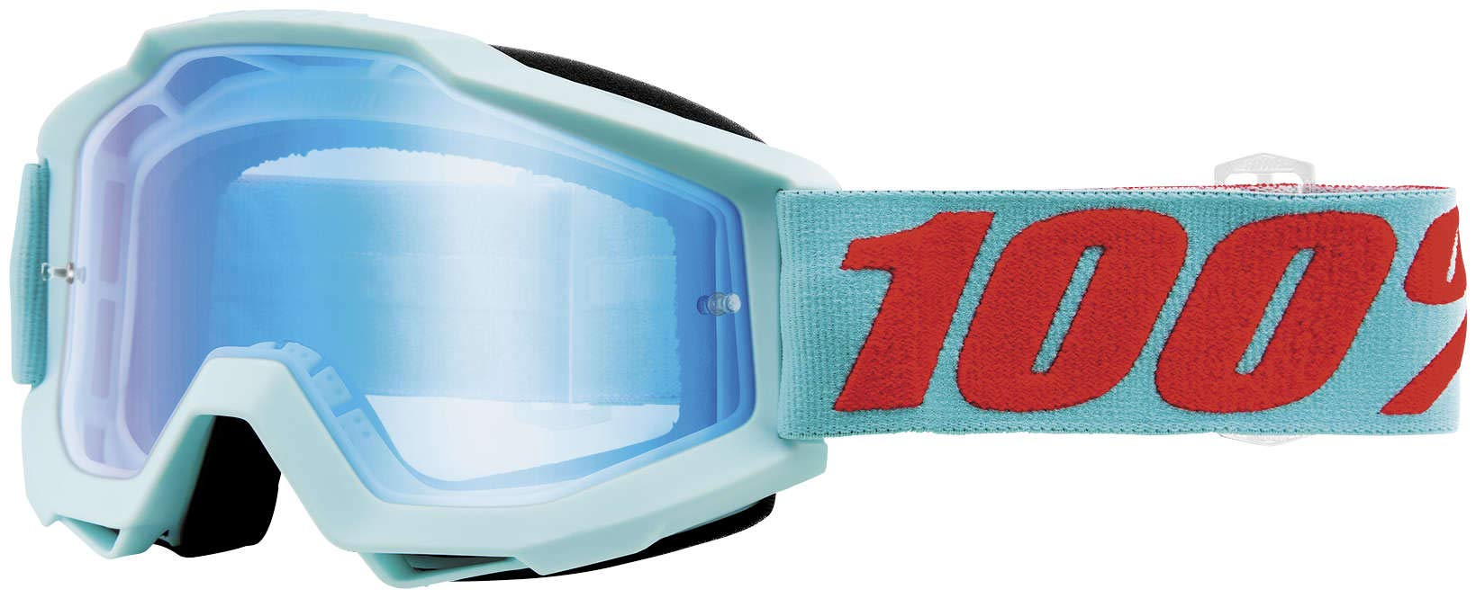 100% Accuri Goggles - Mirrored Lens (MALDIVES/BLUE FLASH LENS)