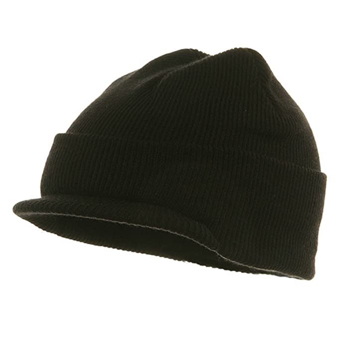 Amazon.com  Youth Beanie Jeep Cap - Black  Skull Caps  Clothing 76f0b13791