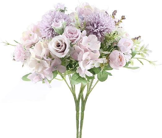 Amazon Com Huaesin 2pcs Bridal Wedding Bouquet Artificial Peony