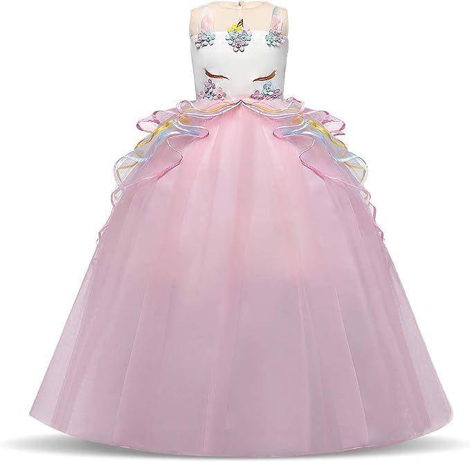 NNJXD Disfraz de Fiesta de Unicornio para Niñas Cosplay Disfraz de ...