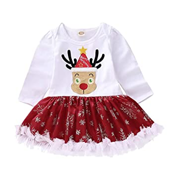 Christmas Baby Girls Romper Dress Infant Xmas Deer Long Sleeve Jumpsuit Dresses  Outfits Clothes (age - Amazon.com: Christmas Baby Girls Romper Dress Infant Xmas Deer Long