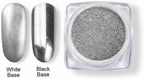 Coscelia Chrome Mirror Powder Nail Glitter Powder Gold Silver Shinning Magic Effect Pigment Dust Nail Art Manicure 1g/pot #068