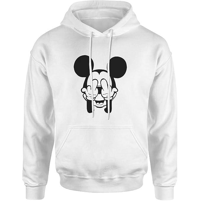 Mickey Mouse Swag Trippy Disney Dope Fuck Blanca Sudadera con Capucha Unisex Medium: Amazon.es: Ropa y accesorios