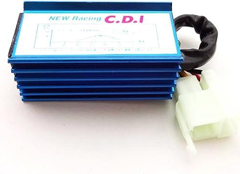 Blue 6 Pin Racing AC CDI For 150cc 200cc 250cc Roketa Kazuma Sunl ATV Quad