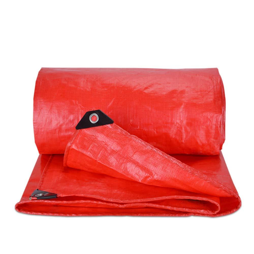 防水シート、赤い両面防水日焼け止めのお祝い防水シートプラスチックシェード布結婚式足場トラス防水シート(22サイズ) 8×10m  B07PH6QSQK