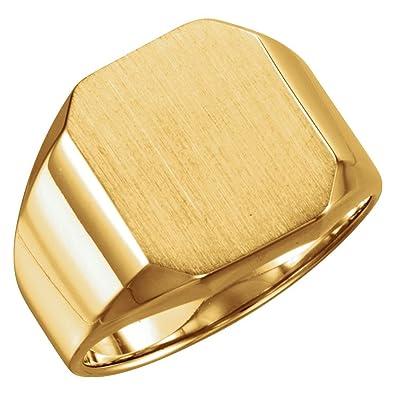 099c8e246db Or jaune 14 carats chevalière pour homme en forme octogonale 16 x 14 mm T 1