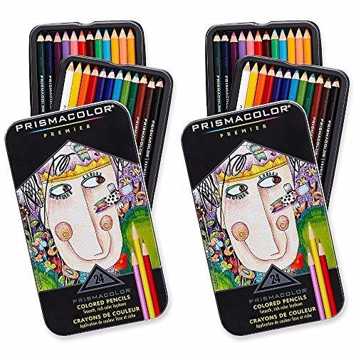 Prismacolor Premier Colored Pencils, Soft Core, 24-Count,