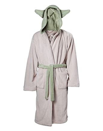 Official Star Wars Yoda With Ears Adult Character Dressing Gown