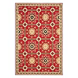 Safavieh Easy to Care Collection EZC711A Hand-Hooked Red and Natural Area Rug (8′ x 10′) Review