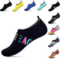 OOLIVUPF Womens Mens Water Sports Shoes Barefoot Beach Pool Shoes Quick Dry Aqua Yoga Socks Shoes(FBA)