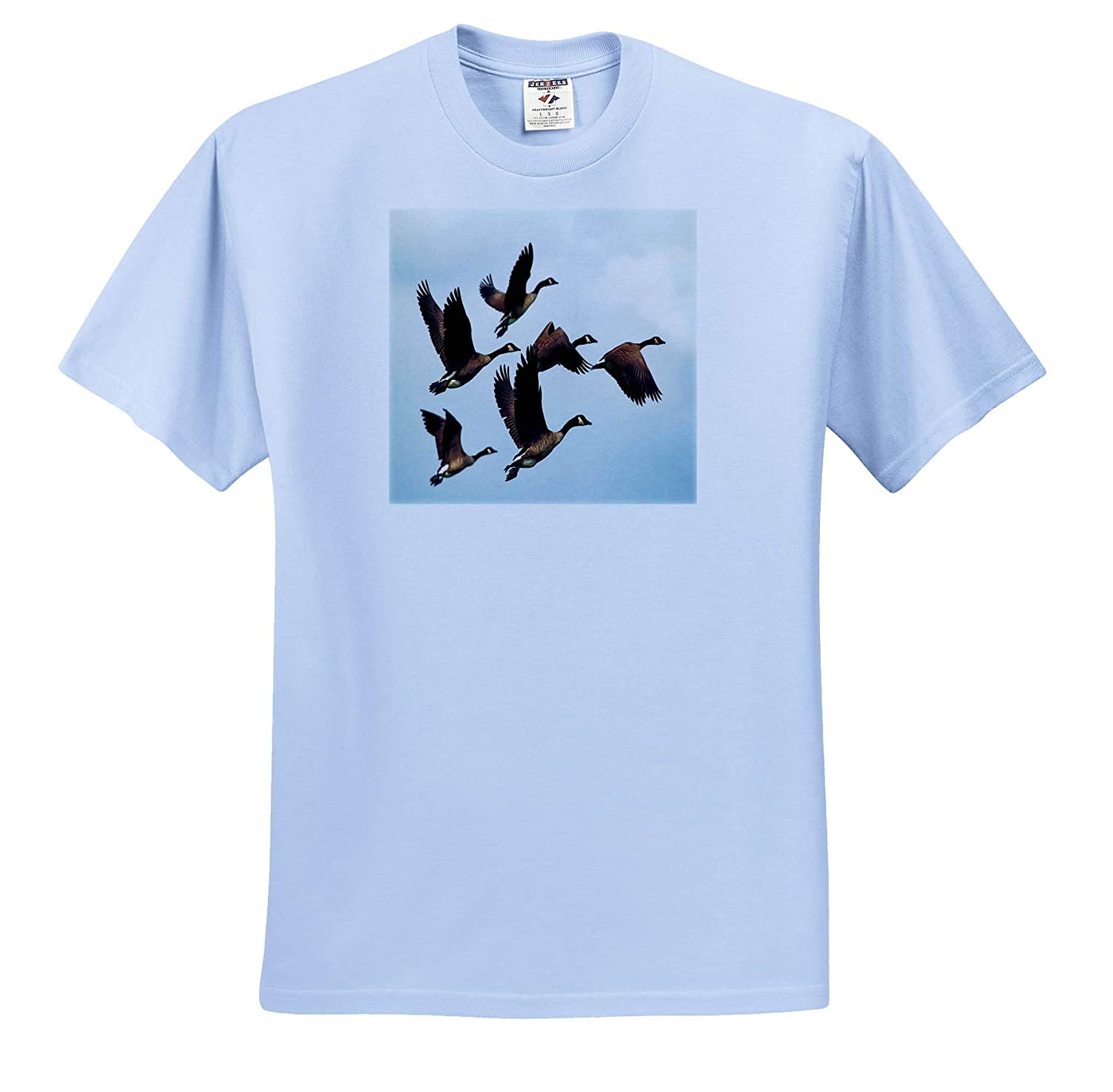 Image of Group of Flying Canadian Geese Birds II 3dRose Lens Art by Florene T-Shirts