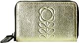 Orla Kiely Women's Embossed Flower Stem Leather Medium Zip Wallet Light Gold One Size