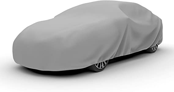 Water Resistant and Dustproof Budge Protector III Car Cover 3 Layer Moderate Weather Protection Gray Car Cover fits Cars up to 228 Size 4: fits up to 19