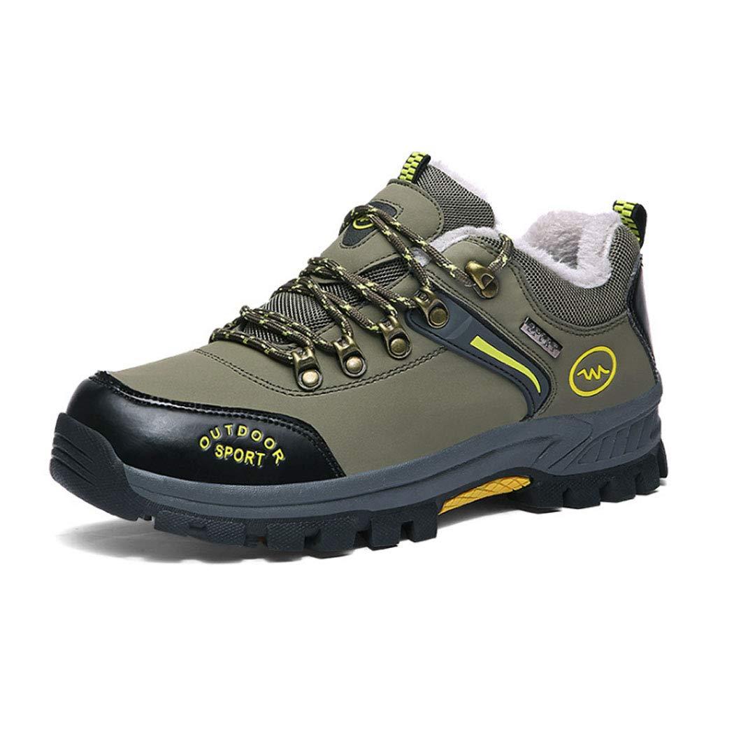 HYLFF Winter Männer Outdoor-Wanderschuhe Plus samt warme Sport-und Freizeit-Reise Schuhe Rutschfeste Wanderstiefel