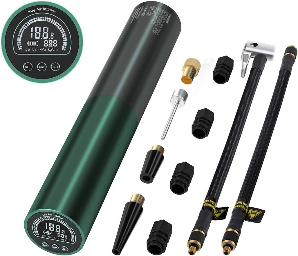 ICARMAINT Compresseur dair Portable Compresseur Voiture Portatif gonfleur Electrique,avec Affichage Num/érique LCD et Lampe de Poche LED 120PSI 3000 mAh