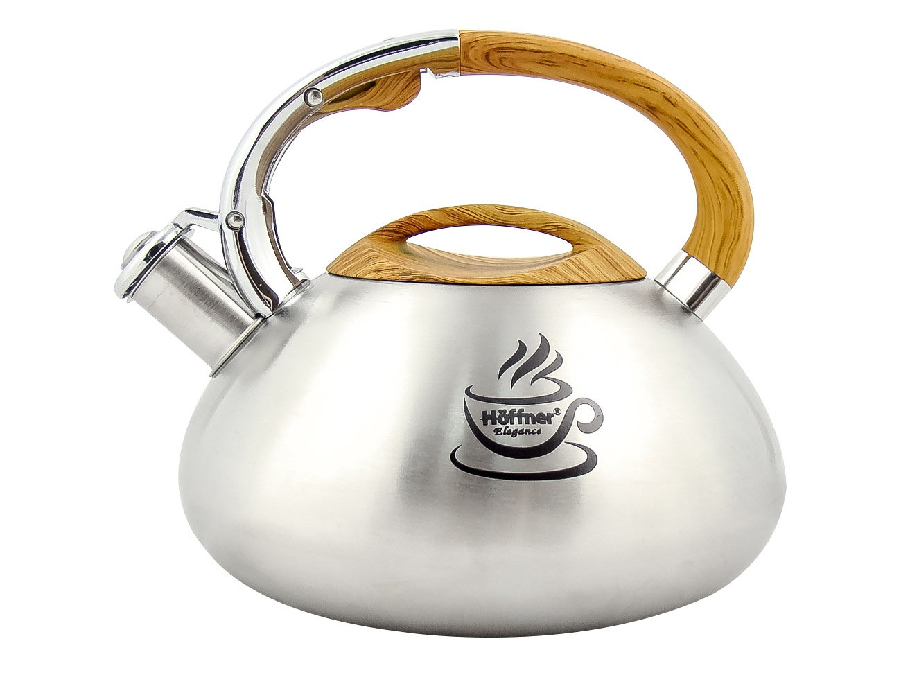 Hoffner Iweks Teapot Kettle With A Whistle Of 3.0 L Magic Logo Attractive And Modern Design