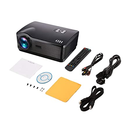 Funnyrunstore H1 Proyector HD 3000 lúmenes HDMI/USB/SD/DTV/AV/VGA ...