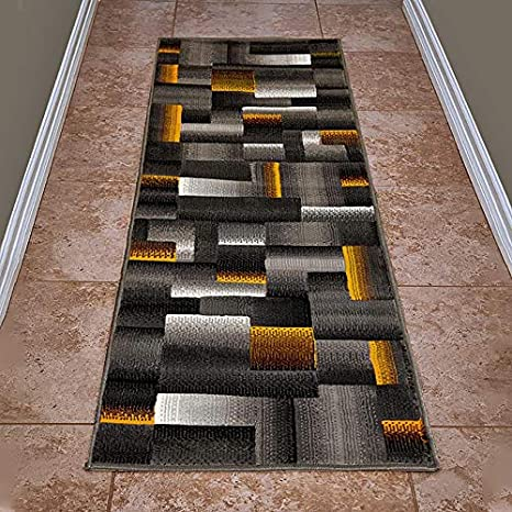 Imported Durable Polypropylene Material Quality Contemporary Carpet Runners by Cosy House Easy Care Red, 2 X 7 Corridor Lobby Area and Stairs Best Runner Rug for Hallways
