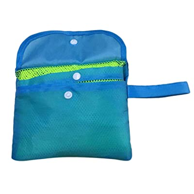 Liobaba Extra Large Capacity Sand Free Mesh Bag Children's Beach Toy Storage Bag Swimming Bag Perfect for Holding Children Toys: Home & Kitchen
