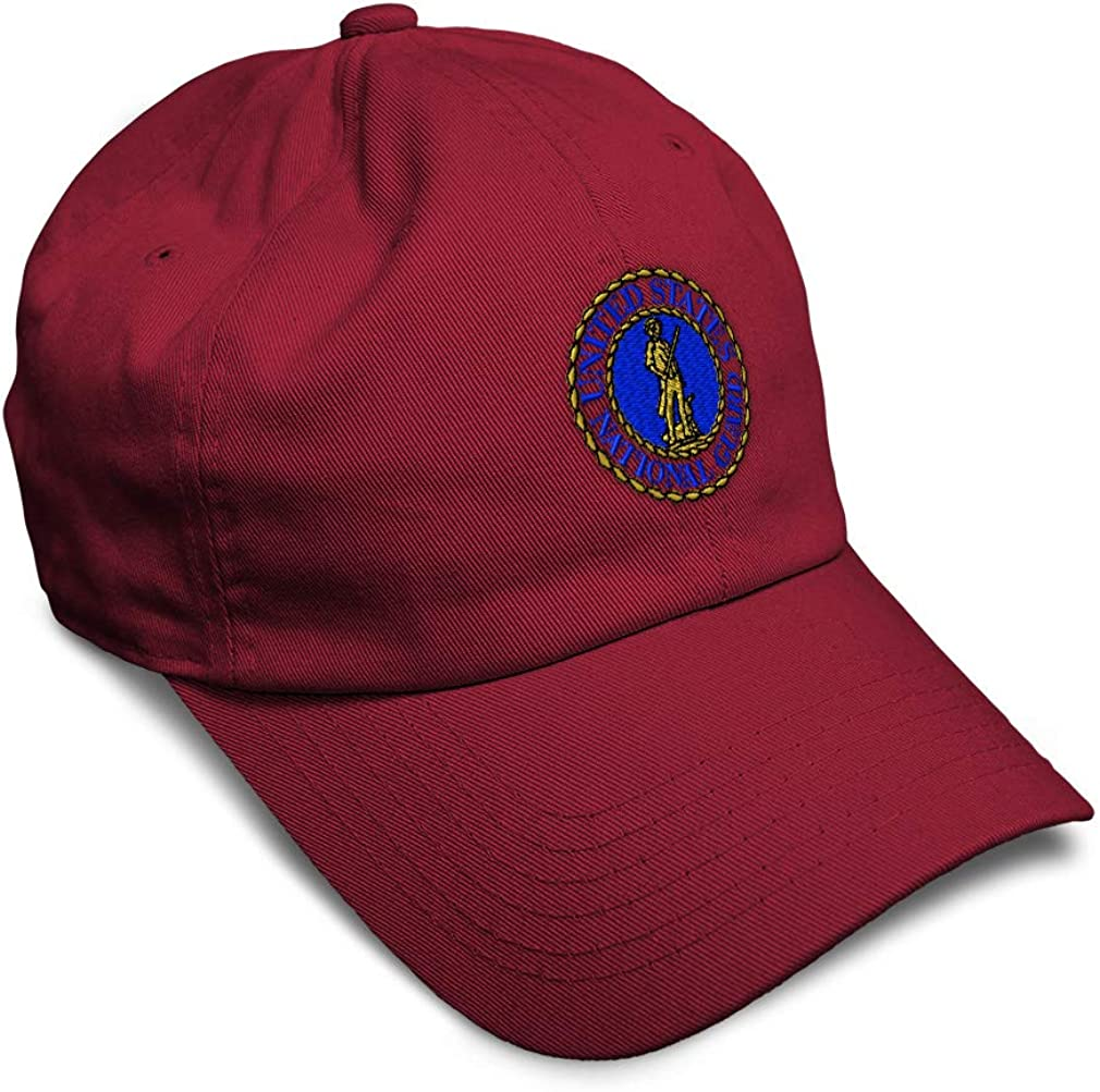 Custom Soft Baseball Cap National Guard Insignia Embroidery Twill Cotton