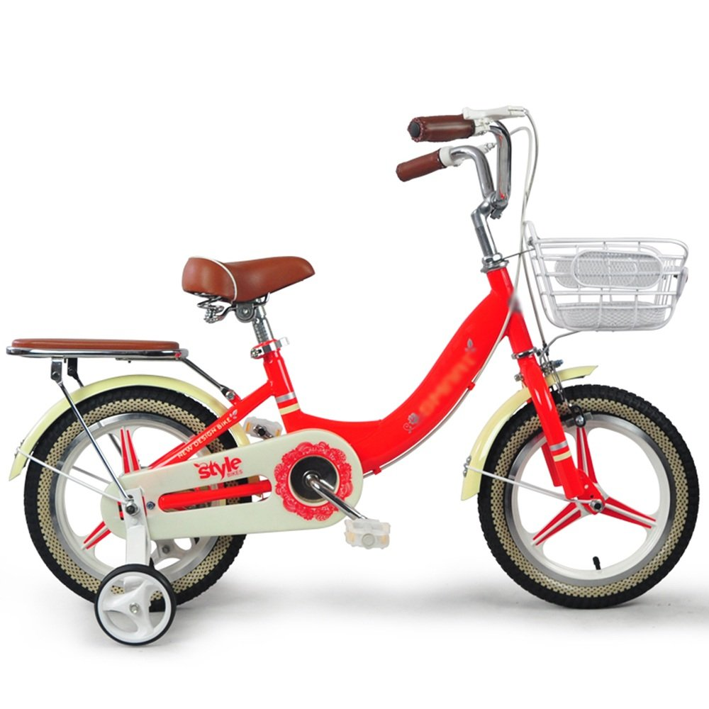 HAIZHEN マウンテンバイク 子供用自転車 青赤 サイズ:12インチ、14インチ、16インチ アウトドアアウト 新生児 B07C6R6MK2 16 inch|赤 赤 16 inch
