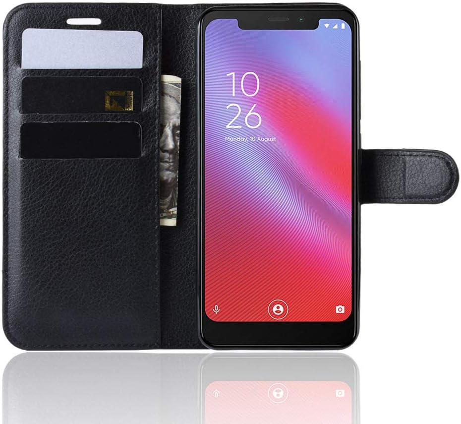 LZS Funda para Vodafone Smart N10, Cuero Tapa Abatible Billetera ...