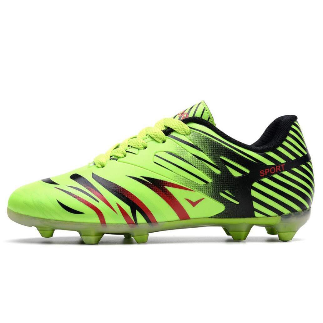 XUE Lovers Soccer Schuhe/Komfort Leder Fußballschuh/Fußballschuhe Fußball/Fußball Anti-Slip, Casual Lange Spike Schuhe, Männer Niedrig-Top-Training Turnschuhe,